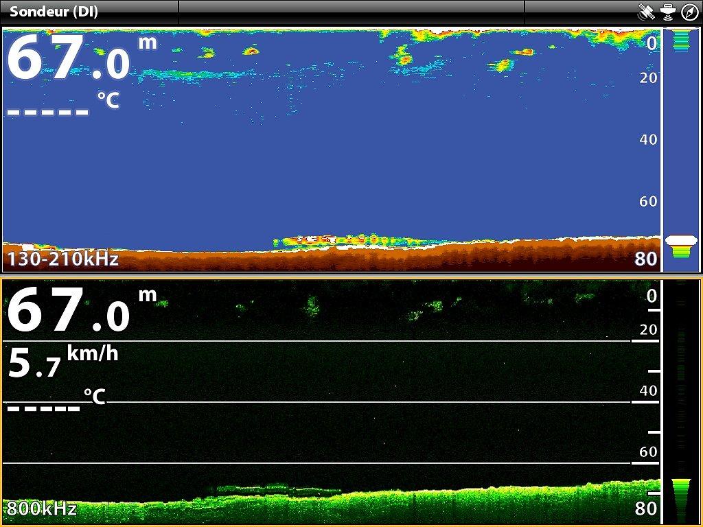 Epave Vue 2D & Down imaging